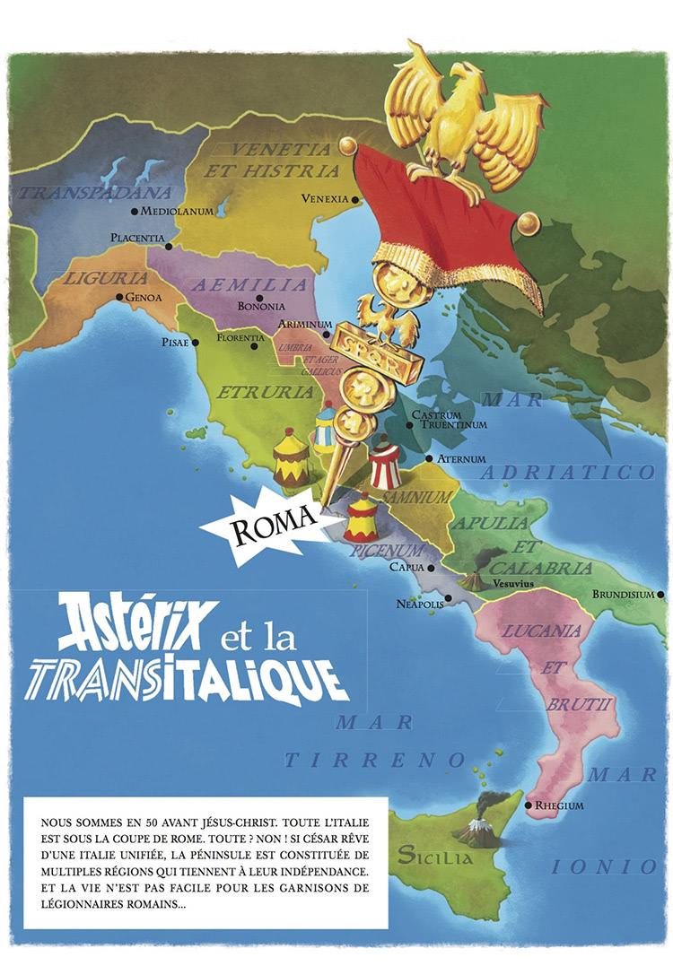 Reklame for Astérix et la Transitalique