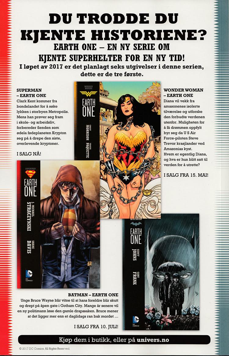 Reklame for Earth One-utgivelser fra Egmont